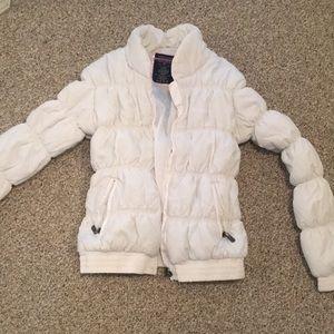 EUC U.S. Polo Assn white puffer coat size large